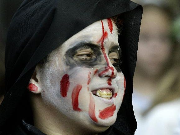 2003: Chris Esworthy as a zombie during Thomas Jefferson Elementary 42nd annual Halloween parade, Friday.