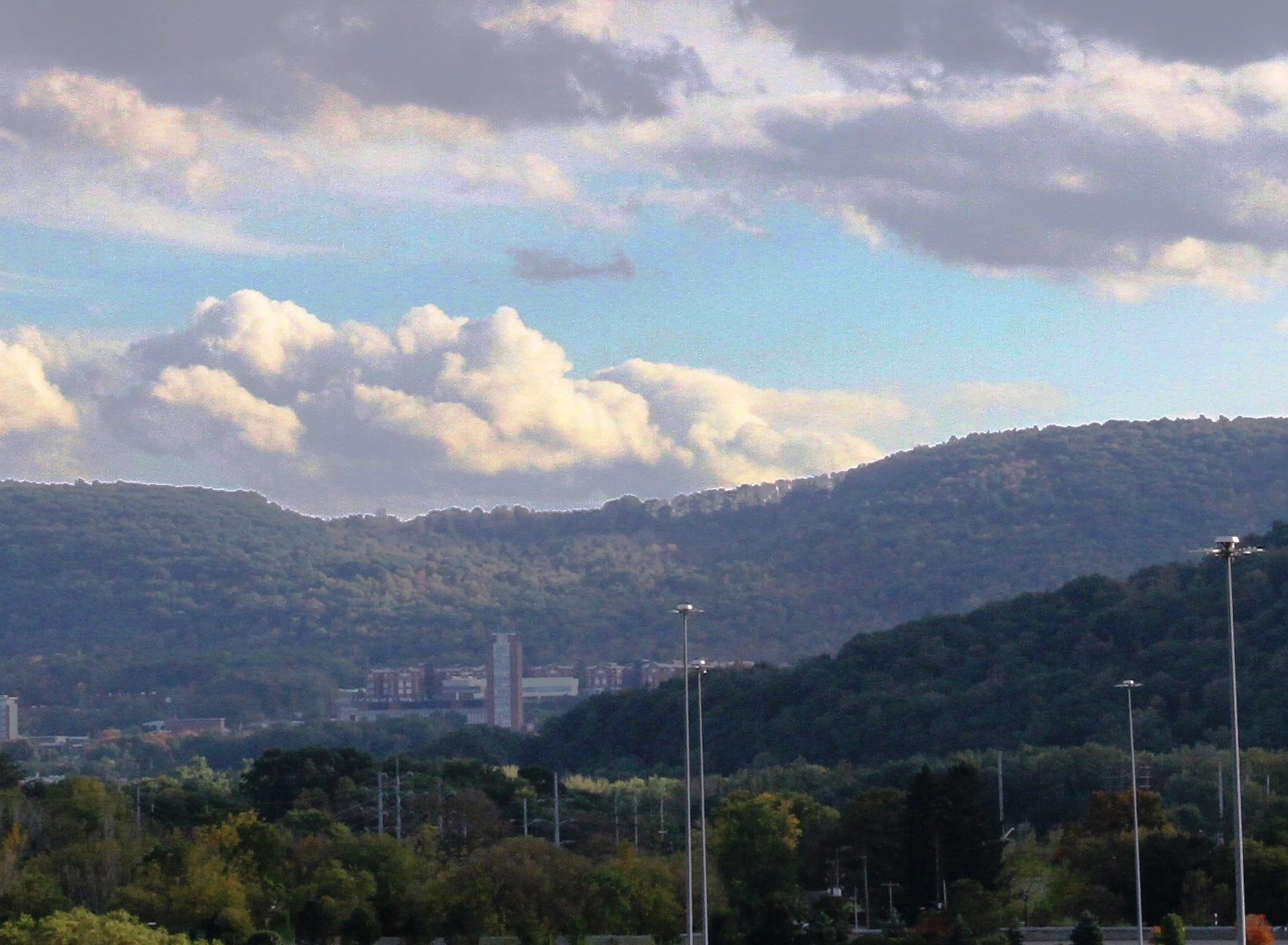 View of Binghamton University from Johnson City.
