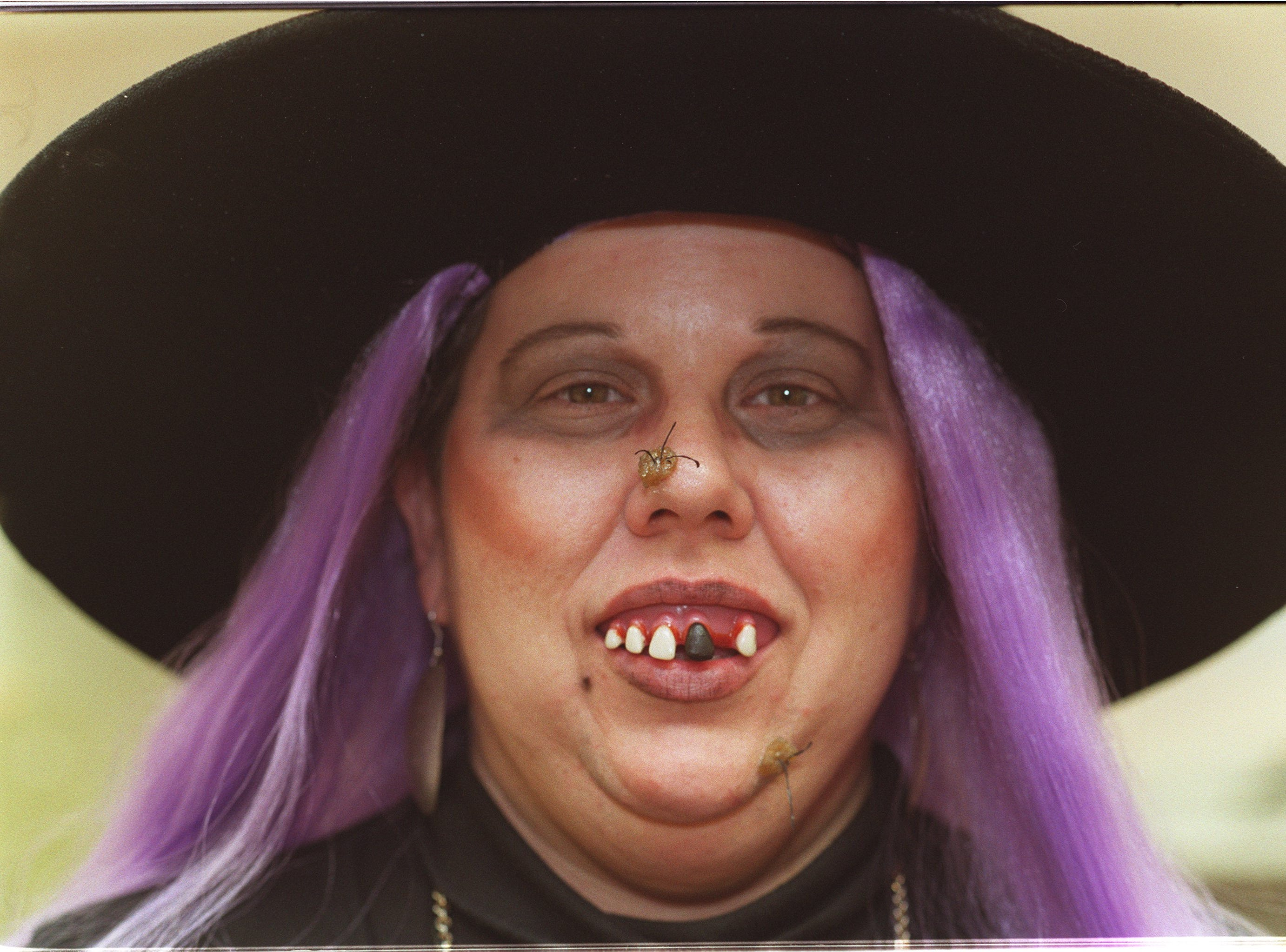 2000: Lisa Hoyte dressed for work as an old, haggard witch Tuesday to celebrate Halloween. Hoyte is an administrative assistant at Career Resources, a division of Challenge Industries. `It makes for a fun, relaxed day,' she says. `It's nice to enliven the spirit in all of us.'