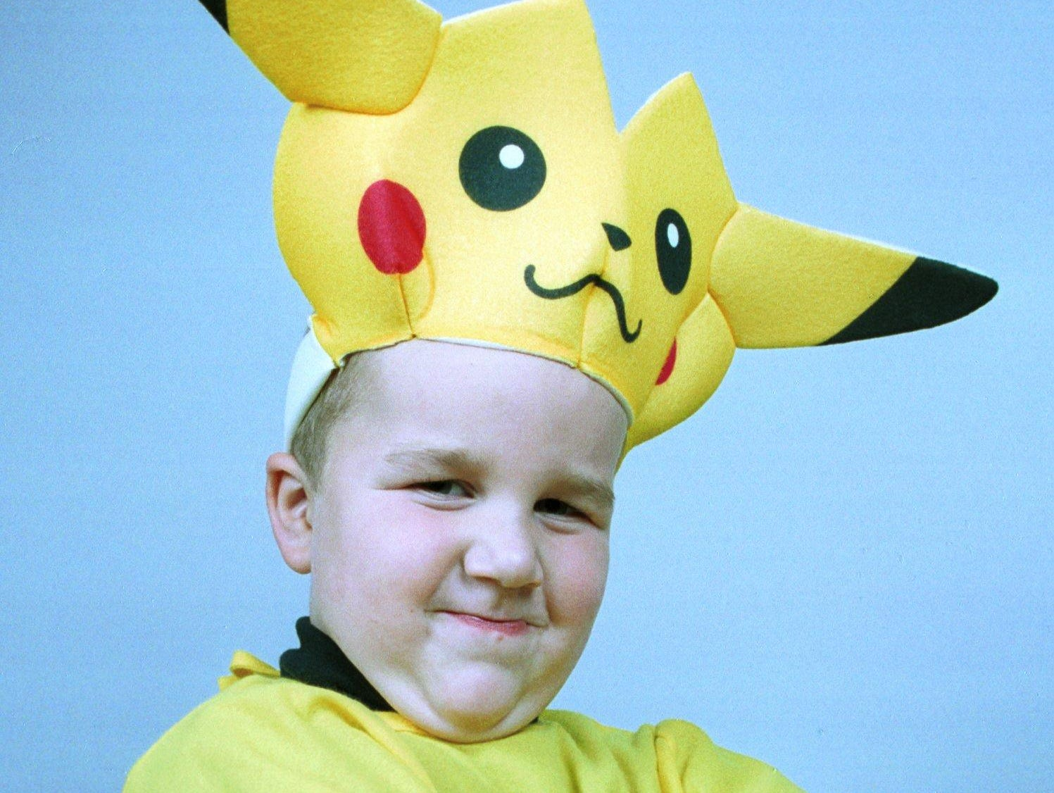 1999: Louis Pratt ,5, Endwell dressed as Pikachu, a popular pokemon.