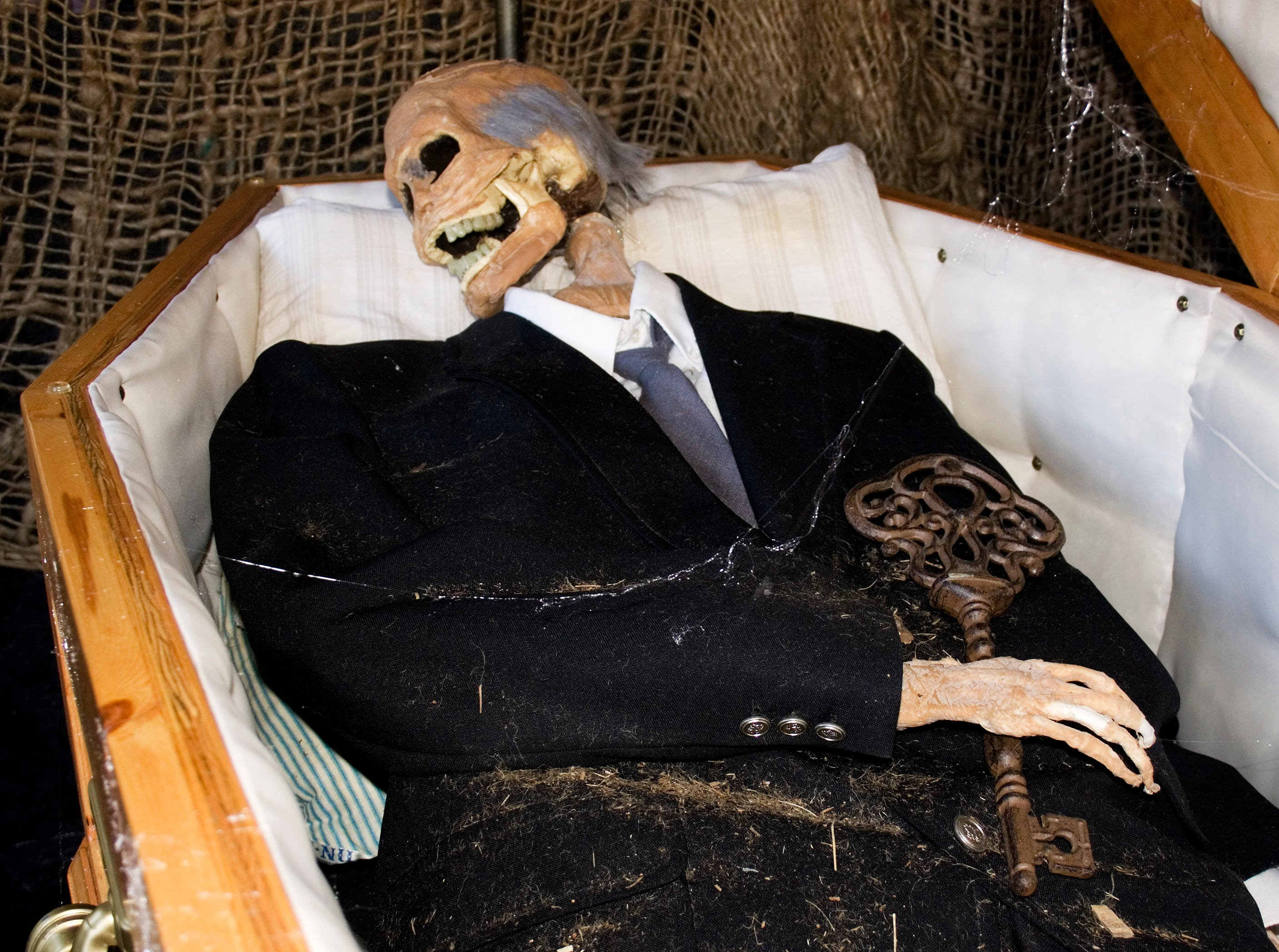 2008: This ghoul's final resting place is in Kingsbury Cemetery, a Halloween haunted house operated by Keith Hoover of Corning.