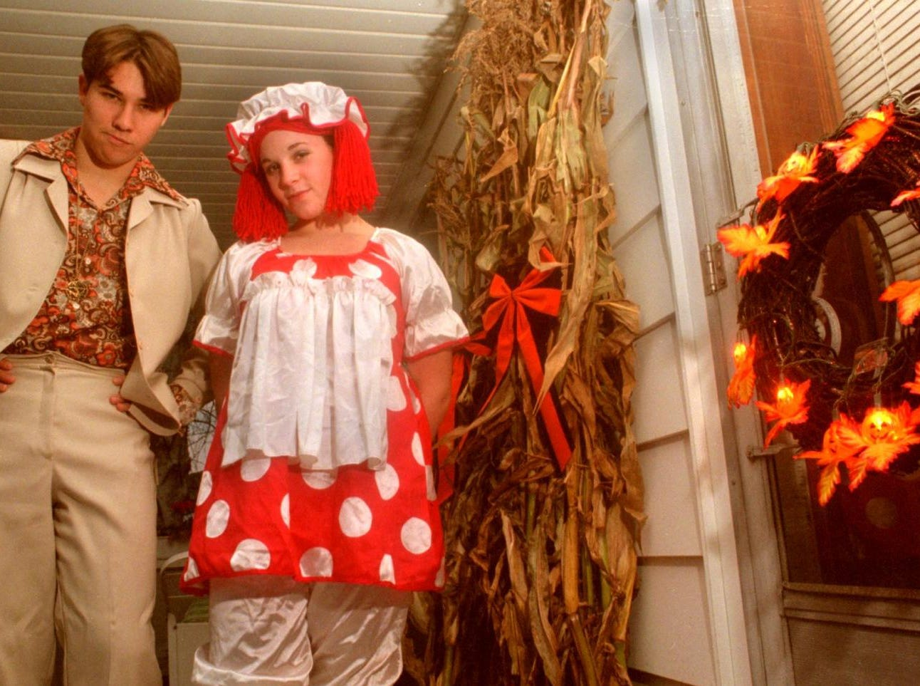 1996: Matt Balch, 17, and Michelle Mastronardi, 15, say they're not too old to go trick-or-treating on Halloween. Balch, as Discoman, will take his younger brother from door to door, while Mastronardi will collect treats as Raggedy Ann with her cousin.