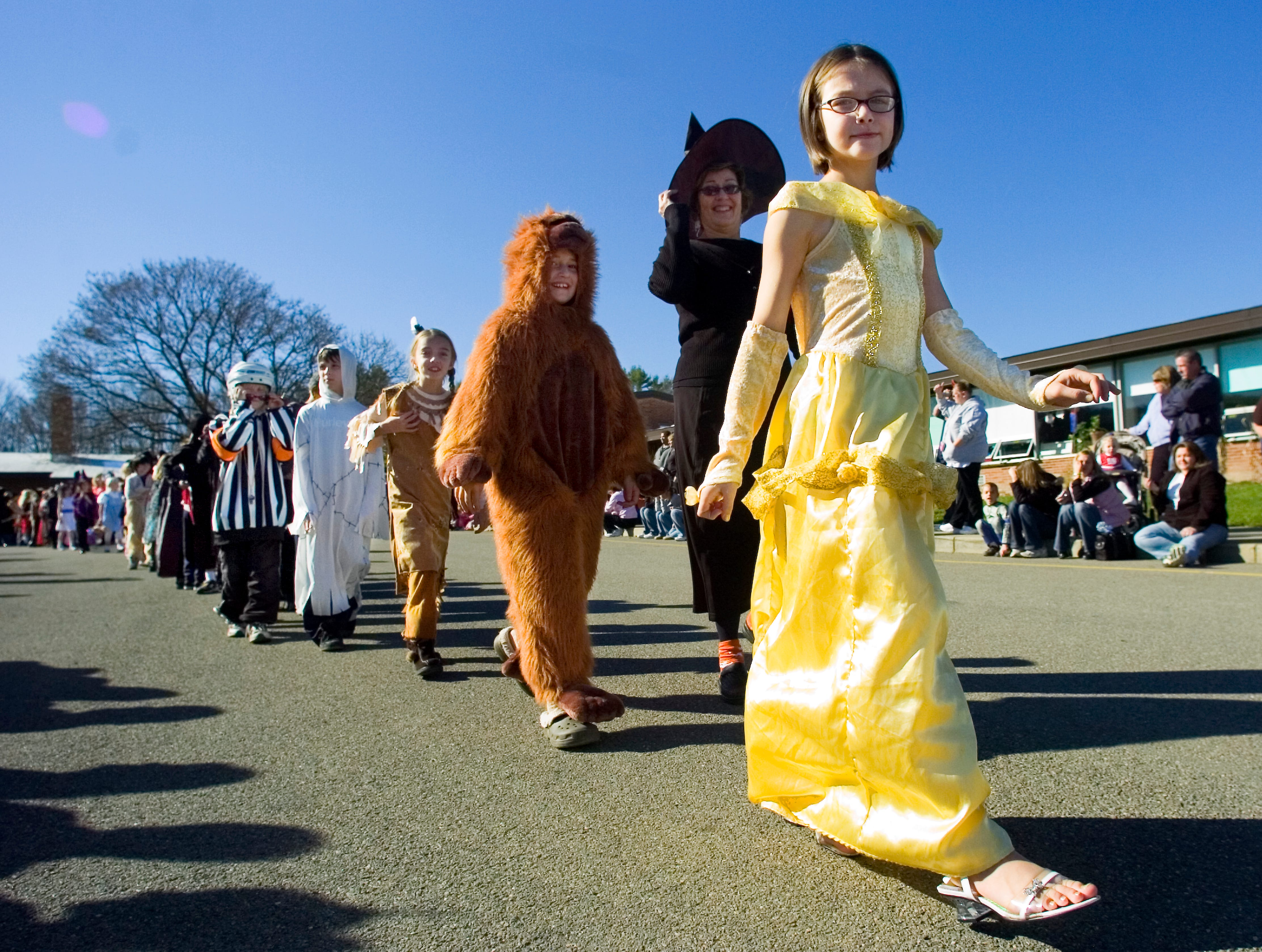 2006: Students don costumes as they parade around Brookside Elementary School on Friday as part of their annual Halloween celebration.