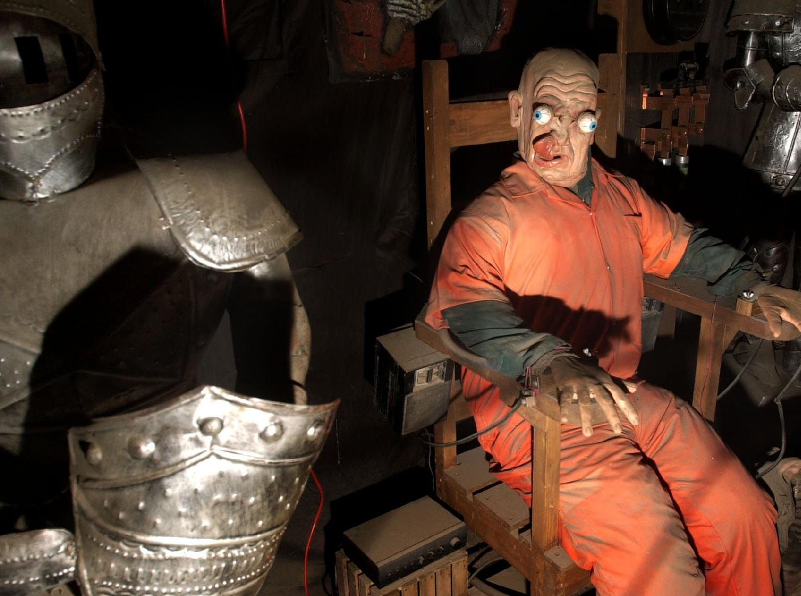 2001: One of the scary scenes in the Spook Barn at Iron Kettle Farm in Candor.