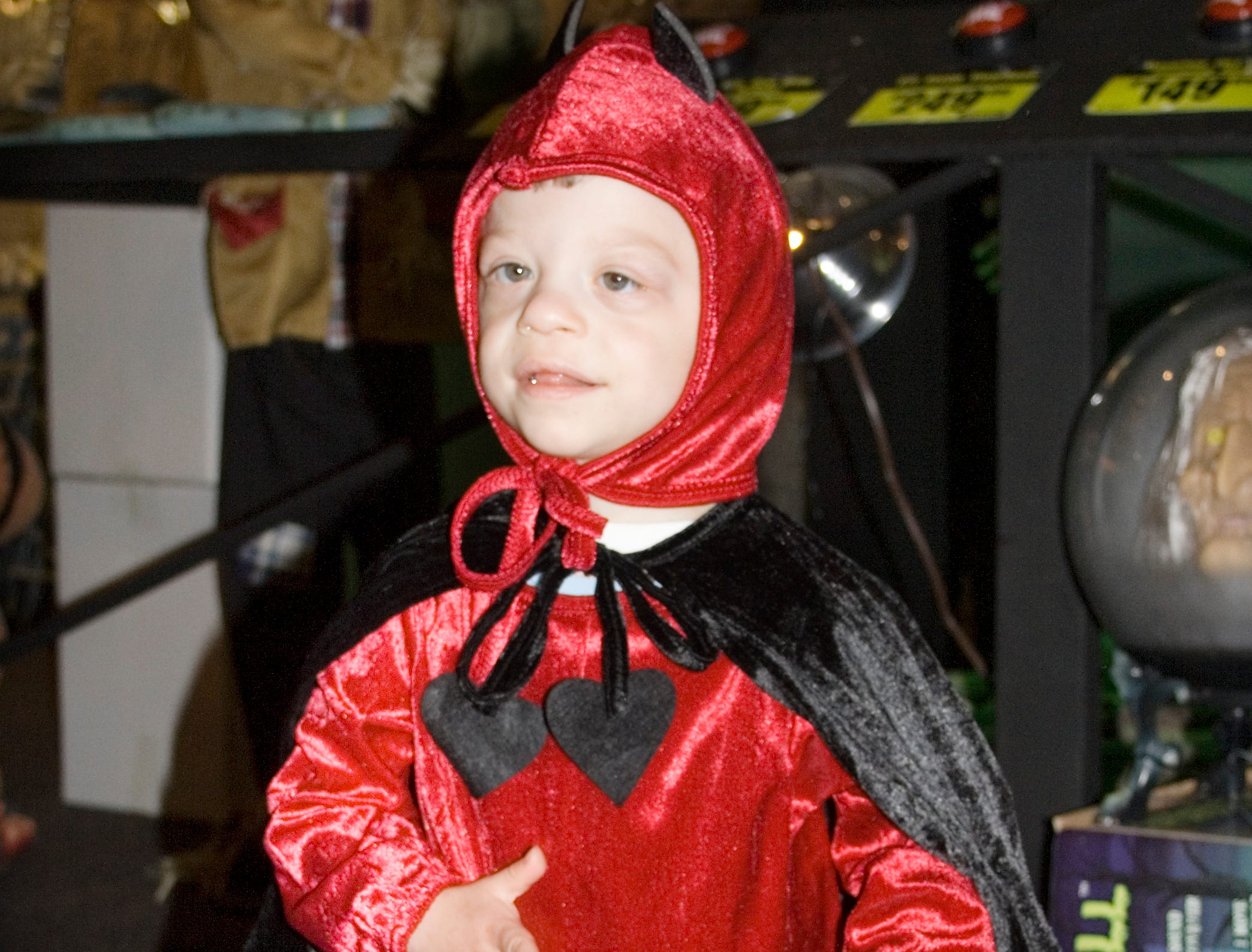 2007: Tanner Blaise Sessaman, 3, of Sayre, models a devil costume Thursday morning at Spirit Halloween Superstores in the Arnot Mall in Big Flats.