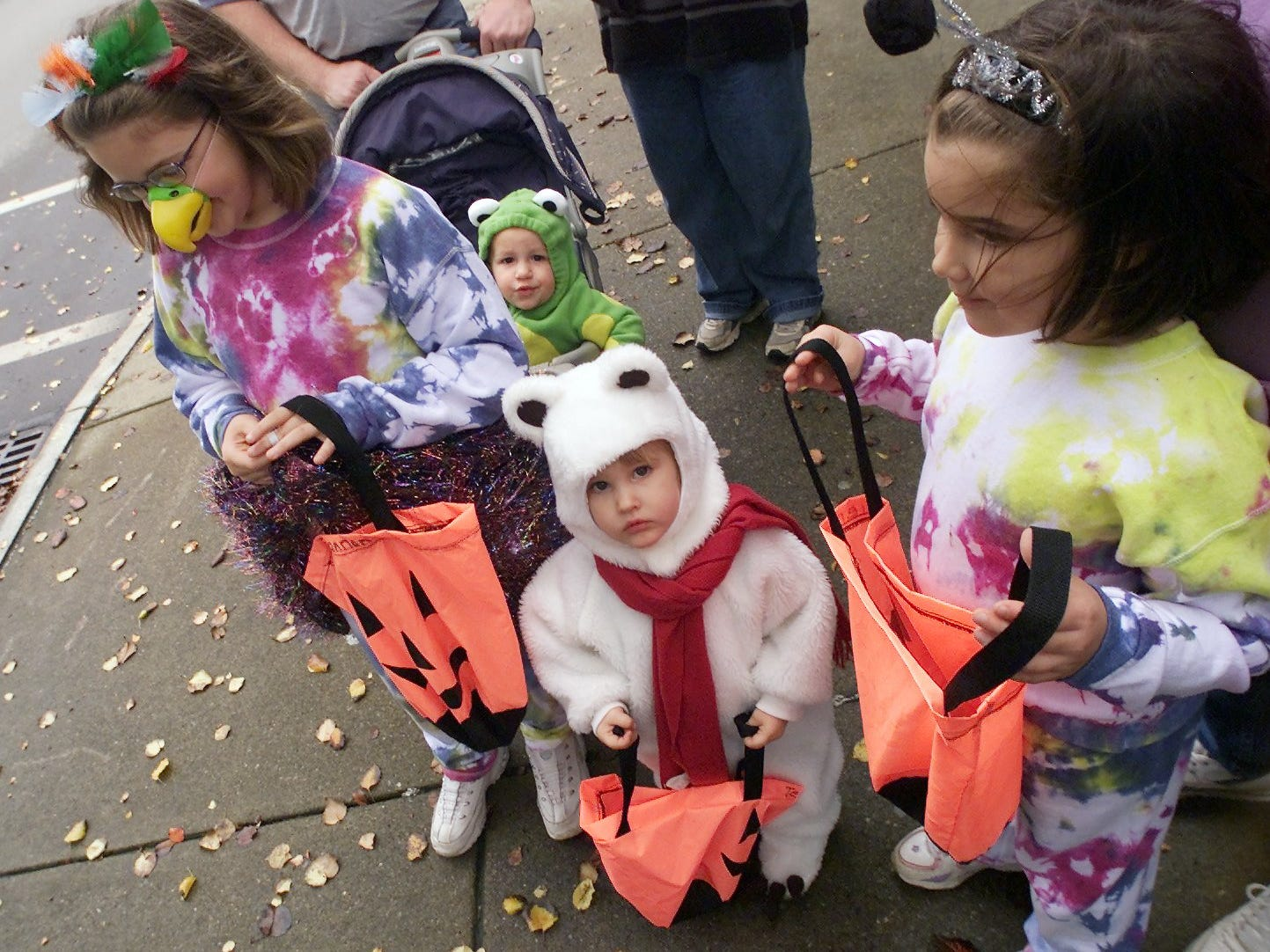 2004: All dressed up on Bridge Street and getting ready to fill their bags with Halloween treats are, from left, Shannon Dowdle, 9, Brandon Zydanowicz, 20 months, Jessica Dowdle, 2, and Sierra Dowdle, 6.
