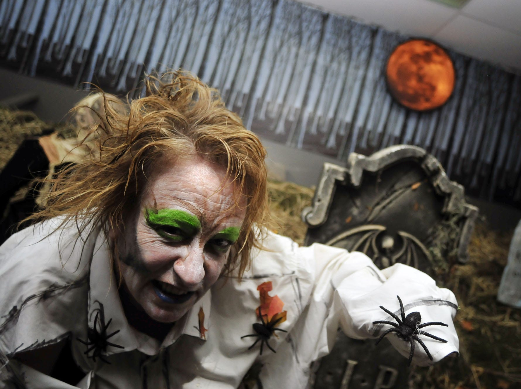 2012: Volunteers get into character during the run through of the Haunted Halls of Horror on Friday Oct. 12. Haunted Halls of Horror is on its third year at the Southern Tier Independence Center, and will operate every Friday and Saturday until the last weekend in October. In addition it will be open Halloween, and Sunday Oct. 28. All money will go to help people with disabilities in Broome County