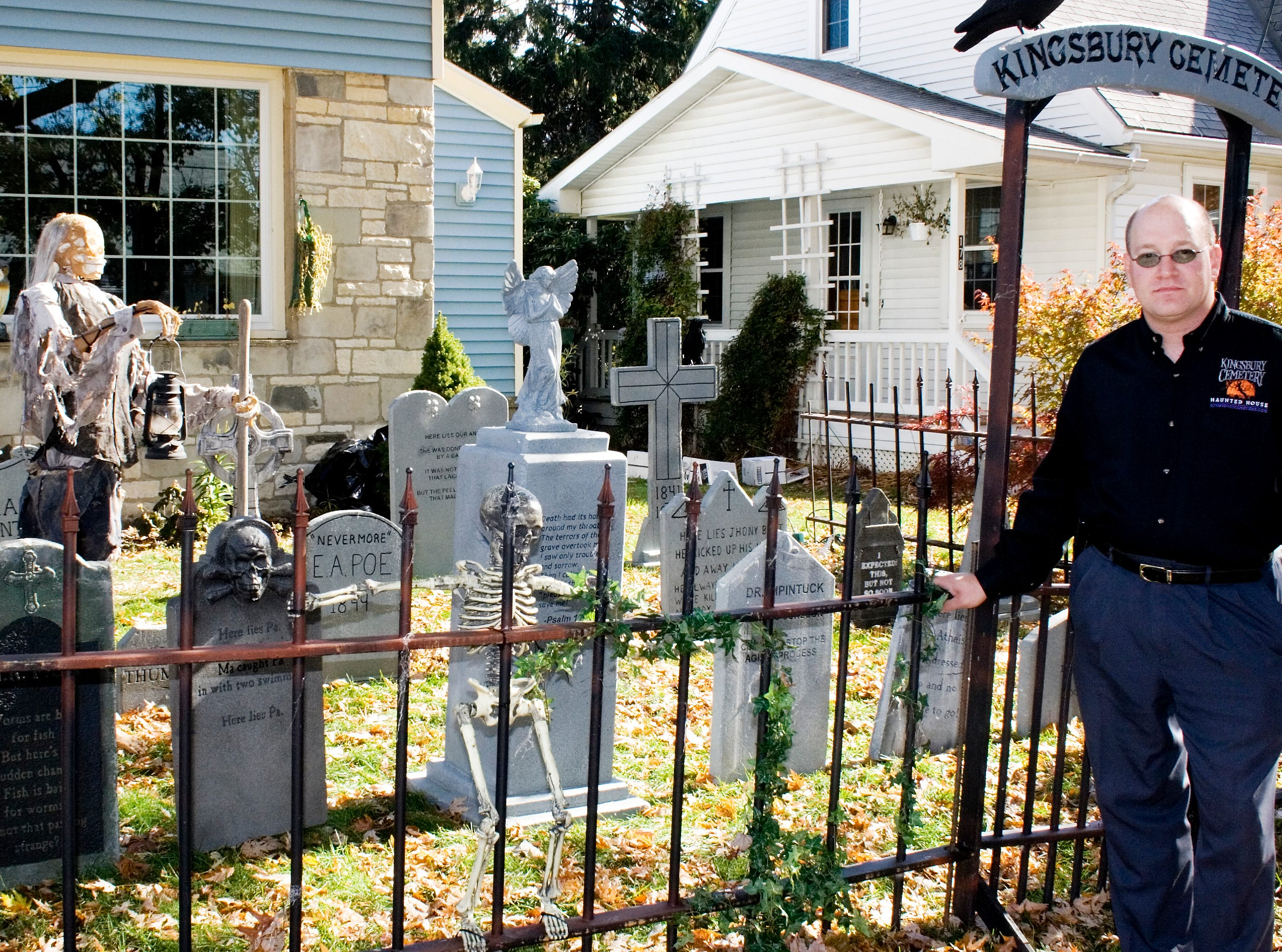 2008: A haunted graveyard is the first thing that greets visitors to Keith Hoover's Kingsbury Cemetery in Corning. Every Halloween, Hoover converts his Kingsbury Avenue home into an elaborate haunted house.