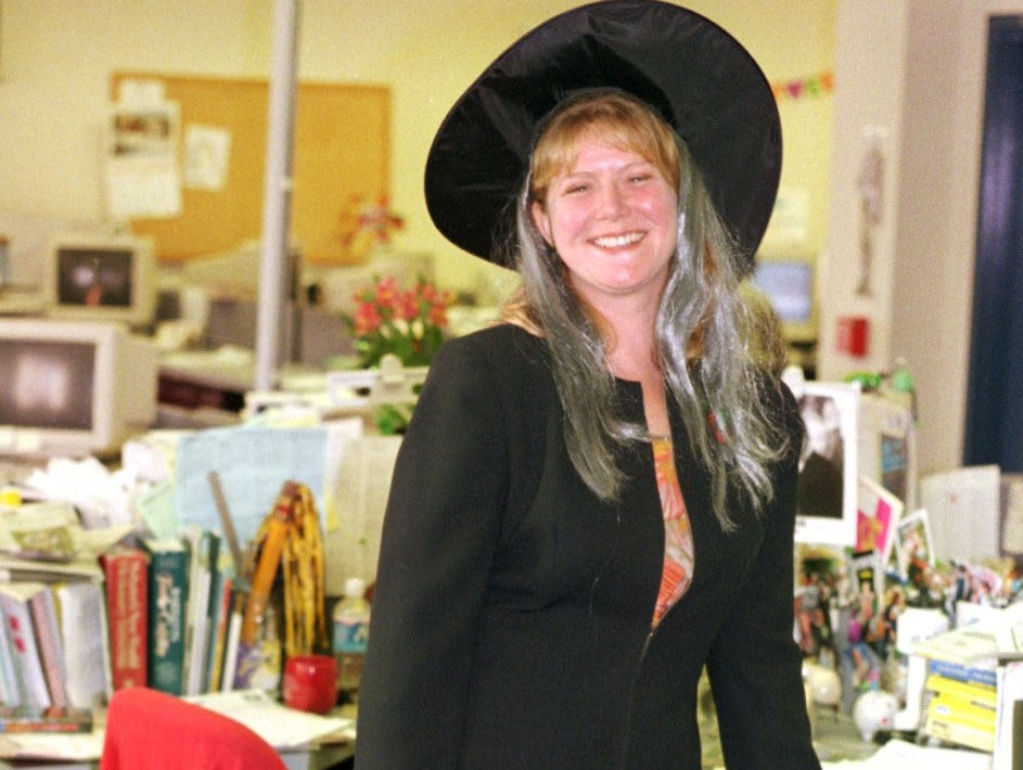 1999: The Star-Gazette had its own Blair Witch Project on Halloween when Features Editor Annie-Laurie Blair appeared dressed as a witch.