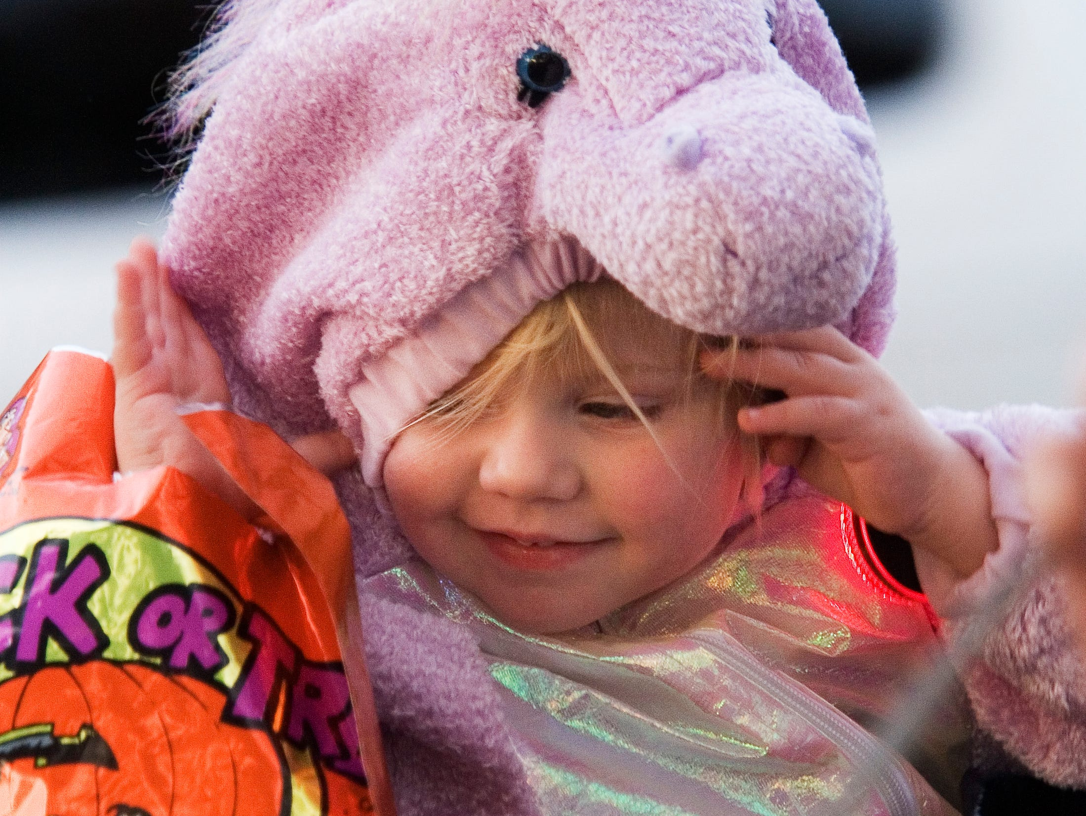 2007: Alyssa Arms, 2, of Big Flats, comes to the Horseheads Halloween Spooktacular in Teal Park Monday evening dressed as an unicorn. The event was a combined effort of the Horseheads Youth Bureau and the Horseheads Recreation Department.