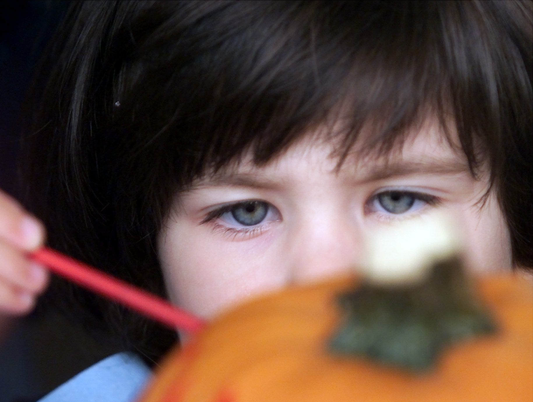 2002: Claire Berman, 4, of Horseheads concentrates on painting a pumpkin at Tanglewood Nature Center's Haunted Happenings Halloween event on Saturday. Games, hay rides, face painting and the haunted Monster Mansion rounded out the center's events for children.