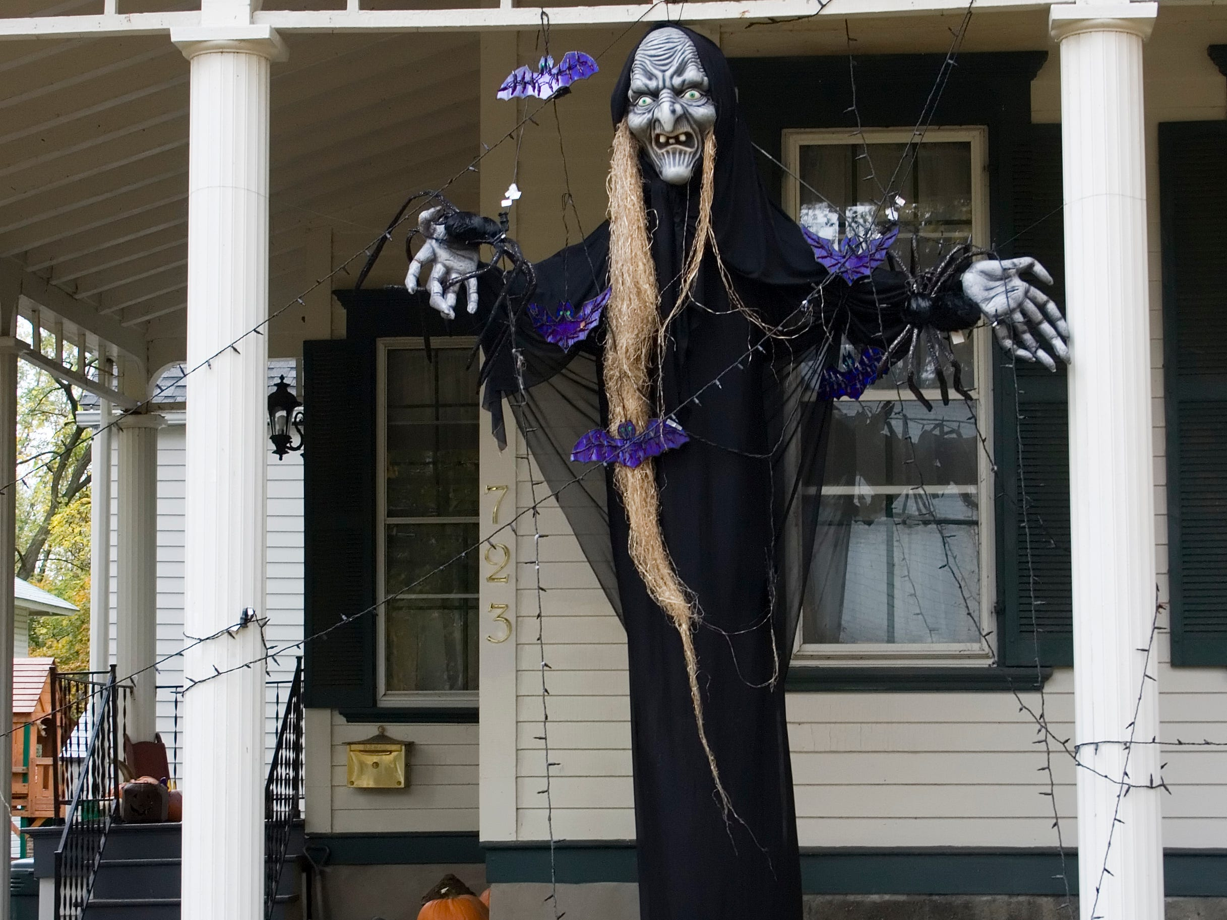 2008: An Elmira area house decorated for Halloween.