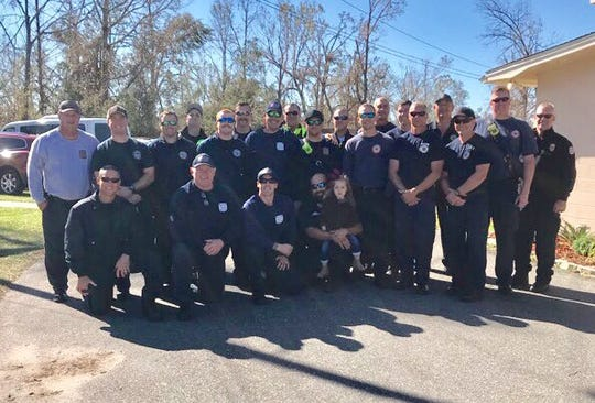 Brevard County Fire Rescue crews went to the panhandle to help with Hurricane Michael recovery efforts.