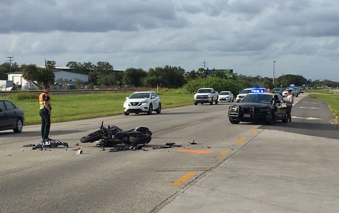 Traffic was at a standstill on U.S. 1 in Rockledge Monday afternoon due to a motorcycle crash.