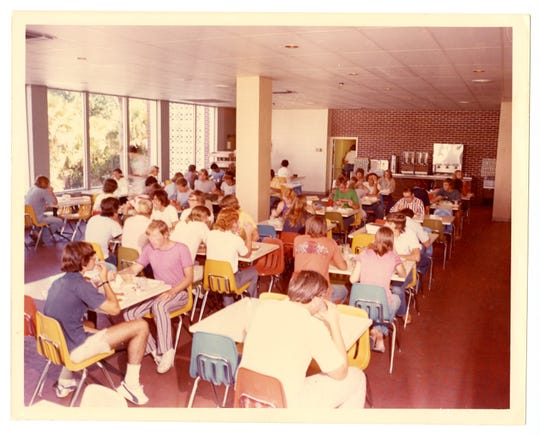 Evans Dining Hall opened in 1973.