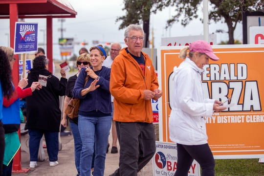 A steady stream of voters entered and exited the Deaf and Hard of Hearing Center of Corpus Christi on the first day of early voting on Monday, October 22, 2018. Some voters said the wait times ranged from 30 minutes to an hour.