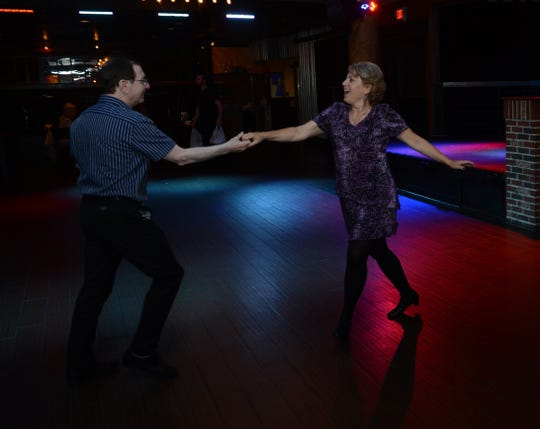 Former Coastline dancers Nancy Stein and Dennis DiMarco jitterbug on Golden Oldies night at Vera's Bar and Grill in Cherry Hill.