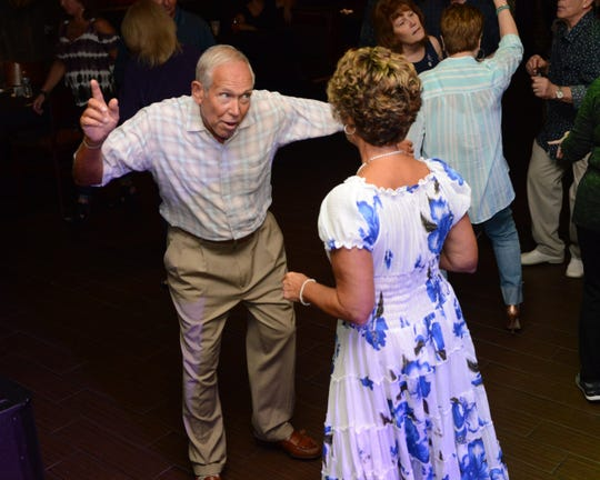 Jim and Nancy Ronga, of Williamstown, dance during Golden Oldies night at Vera's Bar and Grill in Cherry Hill, Monday, Sept. 10, 2018.