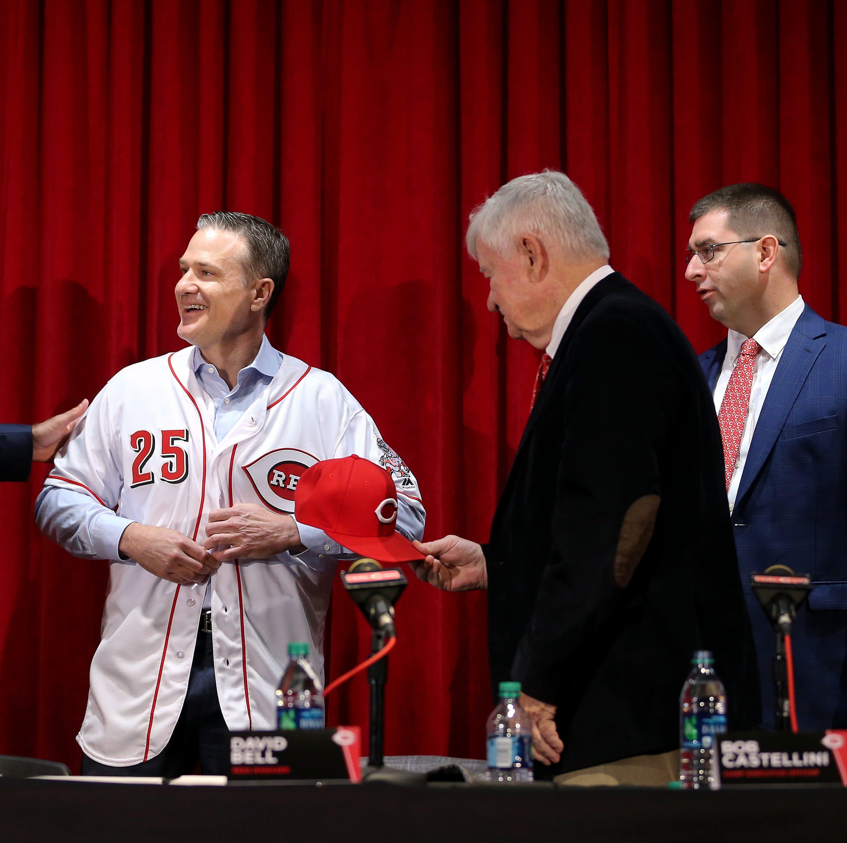 From left: Cincinnati Reds President of Baseball...