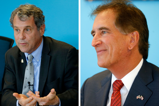 Sherrod Brown (left) and Jim Renacci (right)