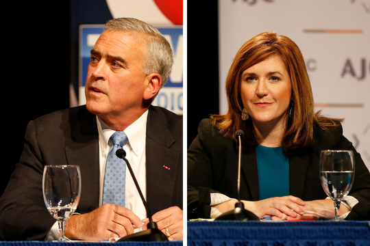 Brad Wenstrup (left) and Jill Schiller (right)