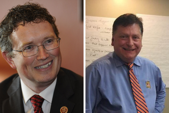 Thomas Massie (left) and Seth Hall (right)