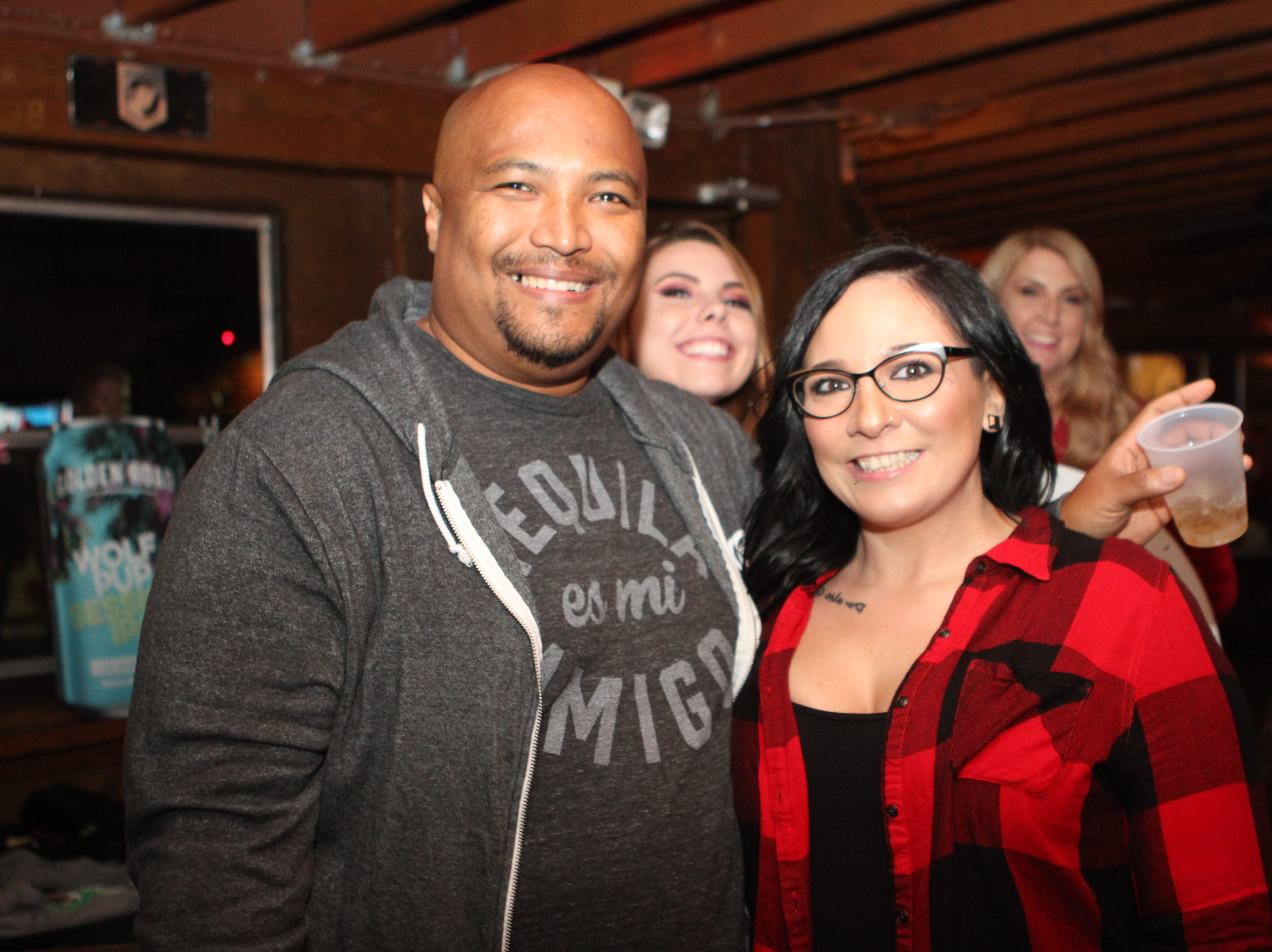 Clarksville Chive's Ronnie Vincenti and Nadine Houston at Gettin' Stupid For Cupid 3 at O'Connor's on Saturday, October 20, 2018.