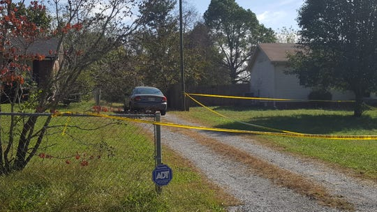 The driveway where Leila Chanane was found dead. Her estranged husband, Hamid Houbbadi, was found inside the victim's home with self-inflicted injuries and has been charged in her death.