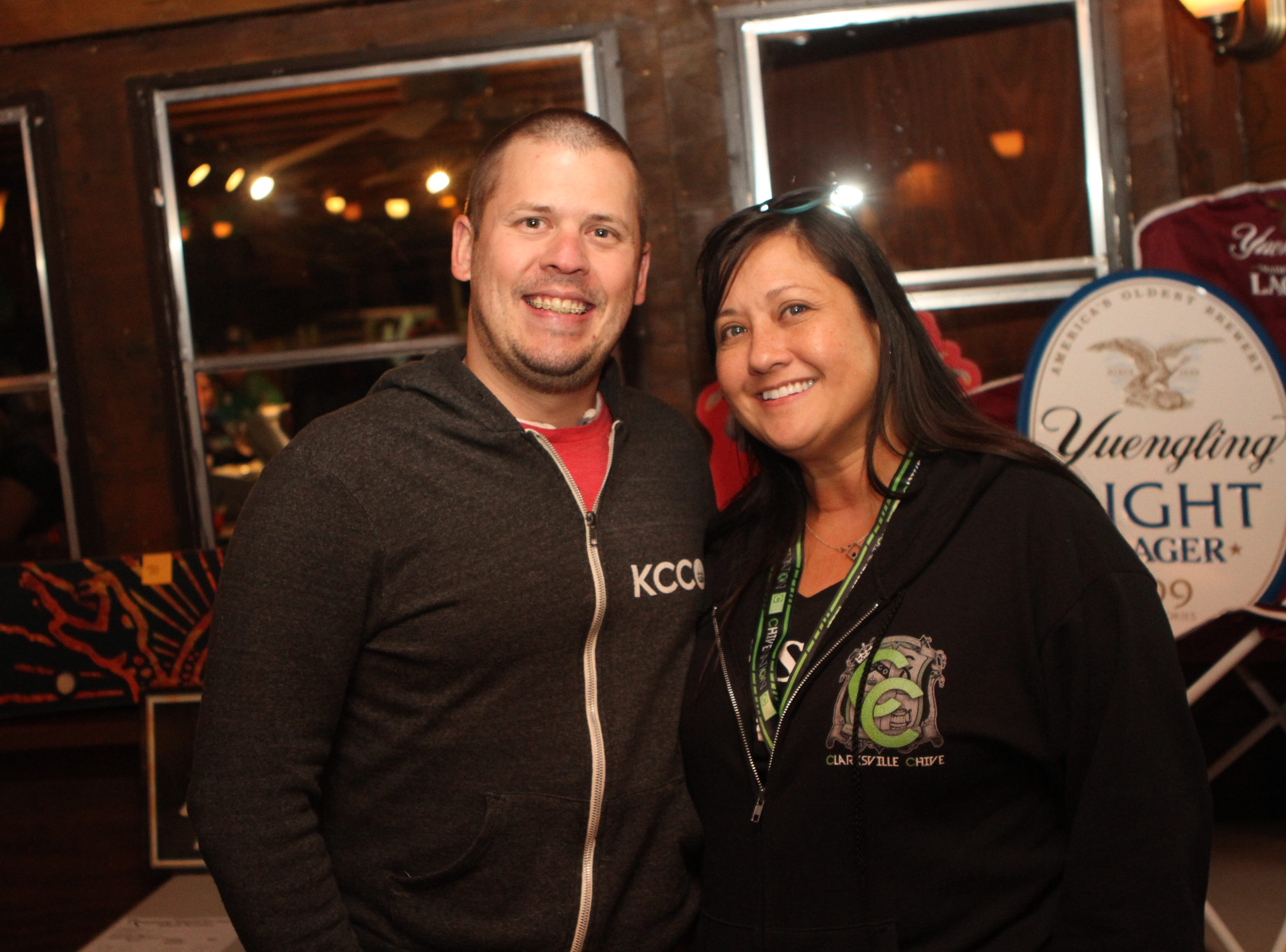 Clarksville Chive's Travis Vanzant and Yolanda Black at Gettin' Stupid For Cupid 3 at O'Connor's on Saturday, October 20, 2018.