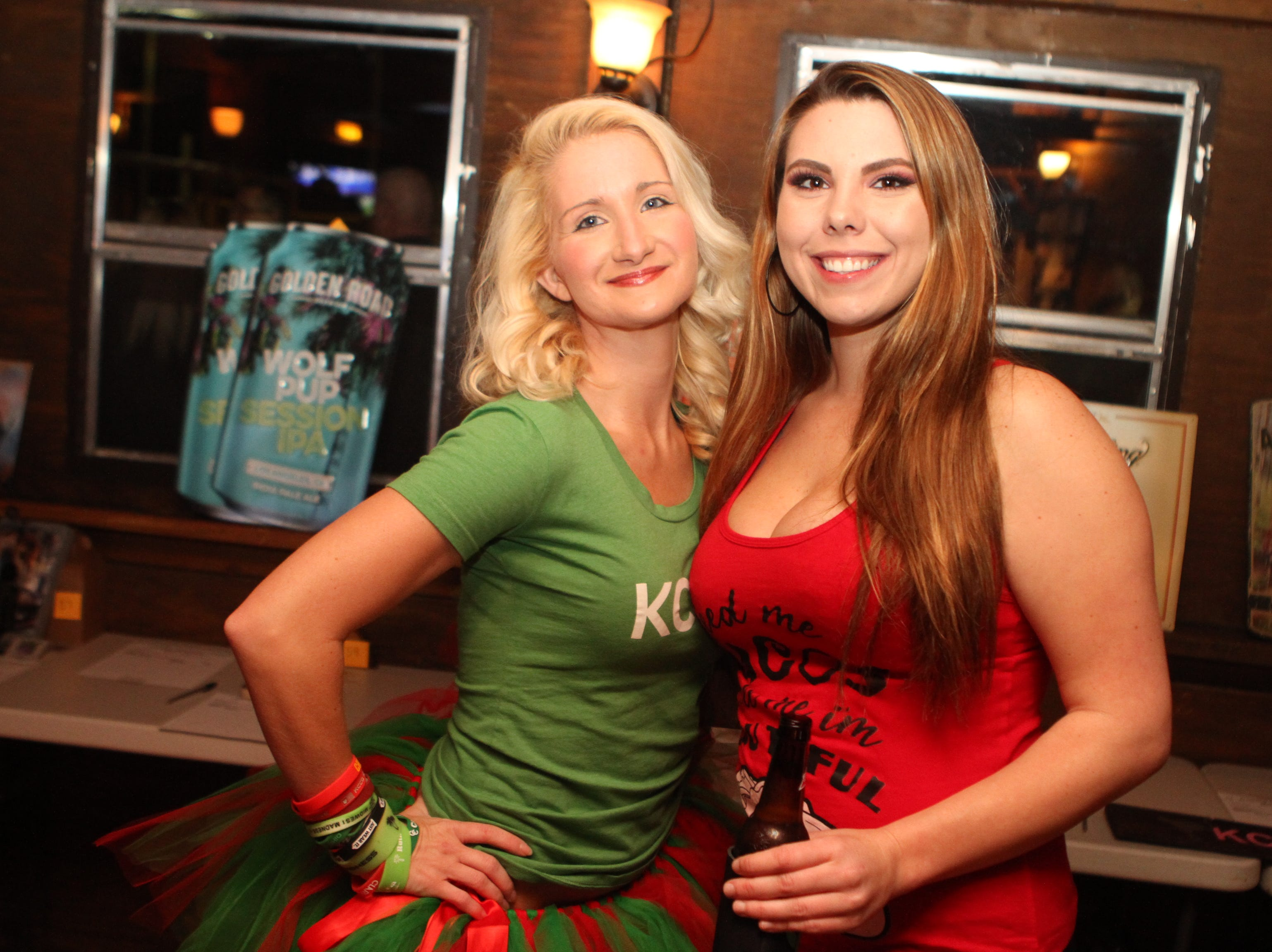 Clarksville Chive's Samantha Henson and Neanna Lamora at Gettin' Stupid For Cupid 3 at O'Connor's on Saturday, October 20, 2018.