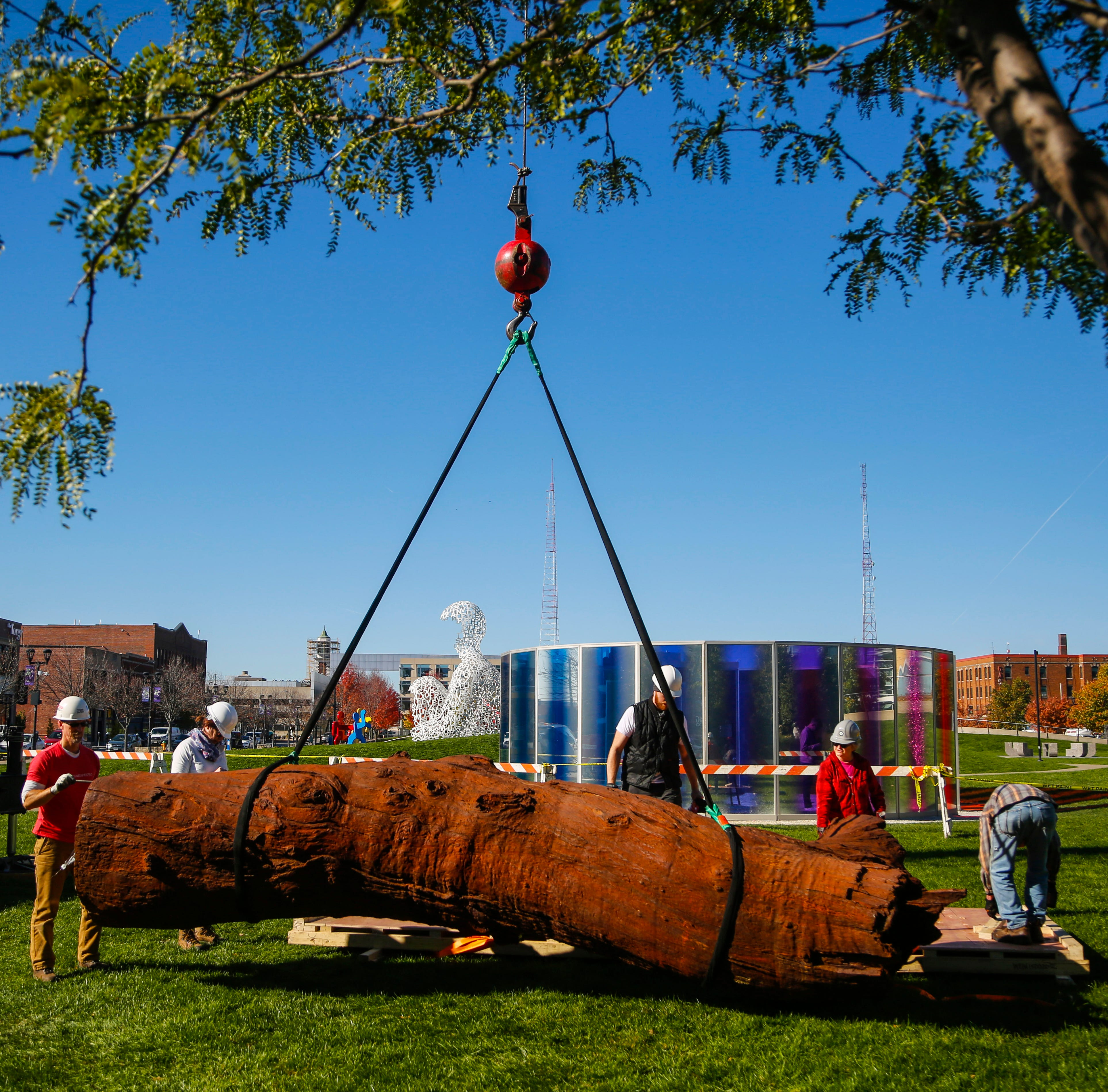 Meet the towering new addition to Pappajohn Sculpture Park