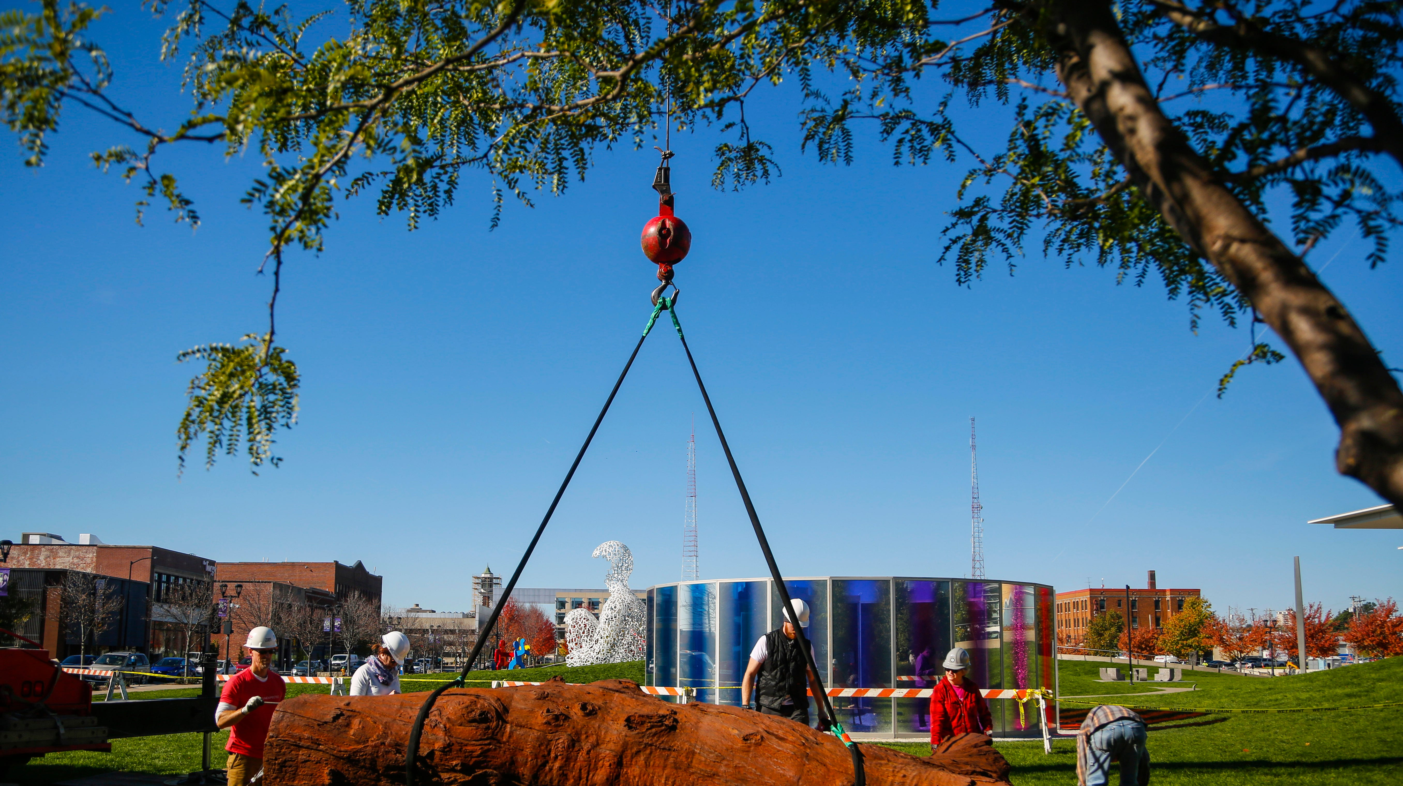 Photos: 'Iron Tree Trunk' is newest addition to Pappajohn Sculpture Park