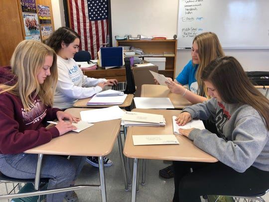 Indianola High students prepare fundraising material for the United Nations Children's Fund on Oct. 22, 2018. The high school started a UNICEF chapter last year.