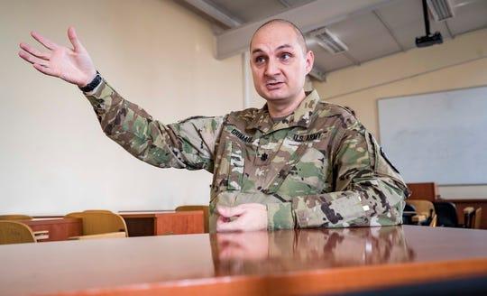 Emergency Management Planning & Interagency Cooperation Advisor Lt. Col. James Grimaldi is shown on Sept. 18, 2018, in Pristina, Kosovo.