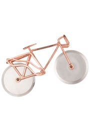 A bicycle pizza cutter made by metal masters in India remains a customer favorite.