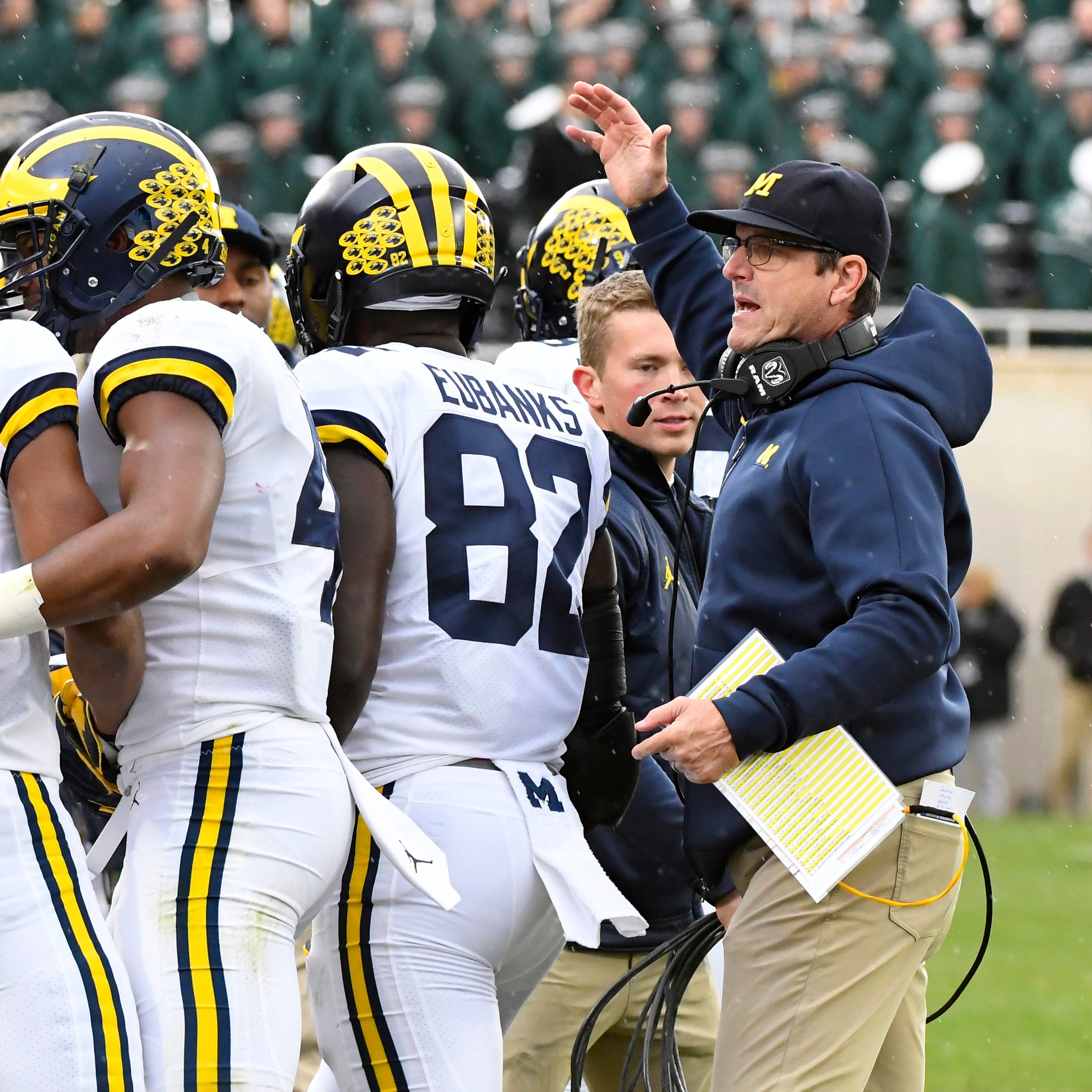 'Stormtrooper march': Harbaugh doubles down on criticism of Dantonio, MSU