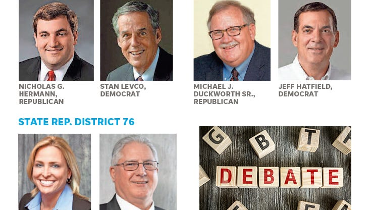 The Courier & Press sponsored debate between local candidates will take place at 7 p.m., Monday, Oct. 22.