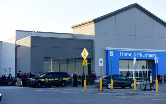 Walmart in Fremont was evacuated Monday night after multiple employees were called around 4:45 p.m. from a disgruntled person who threatened to bring a weapon into the store.