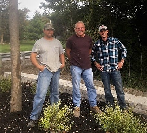 The Friends of Ottawa National Wildlife Refuge are holding an open house for the West Harbor Landing area Wednesday from 1 p.m. Pictured here are, from left, Brian Kimmet, Ed Urban and Adam Urban.Ed Urban from the Otto and Urban Landscaping/Greenhouse company has supported the project, as has the Catawba Island Park District, according to a news release.