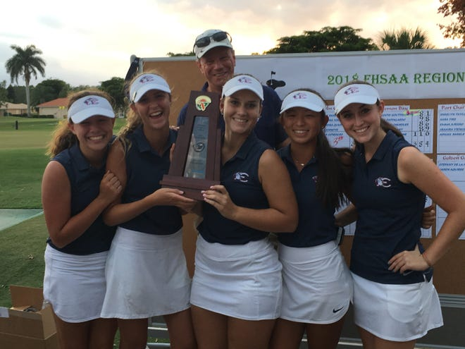 The Estero girls golf team won the Class 2A-Region 7 golf tournament Monday at Herons Glen in North Fort Myers.