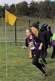 Ryann Wagner makes a turn at the Division 3 Westfield Sectional Cross Country meet on Saturday, Oct. 20.