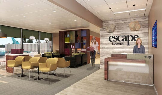 New Escape Lounge at GSP offers another place for nice food and drink.