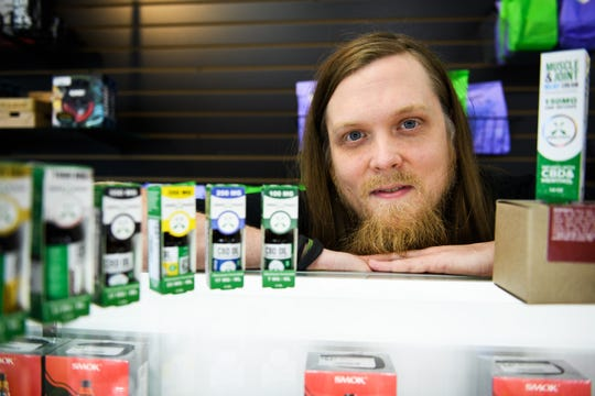 Shane Murphy, general manager at Get Weird Vape Smoke Shop, said CBD products are a big part of the store's business.