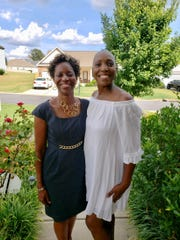 Cassandra Brailsford, right, with friend and fellow church member, Dora Evans, in September. Brailsford is now in hospice care.
