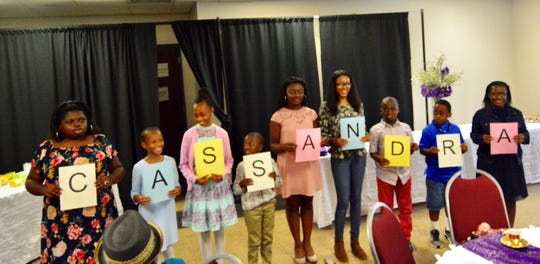 Members of the Young Peoples Division shared good qualities about Cassandra Brailsford with words that started with letters from her first name.