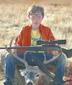 Spencer Laverdure had a successful hunt during the youth hunt last week. The general rifle season began Saturday.