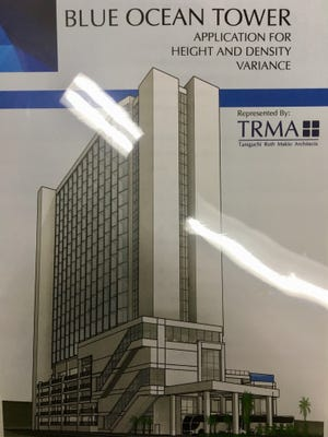 A rendering of a planned boutique hotel in Tumon being developed by Taiwanese investment group Blue Ocean Investment LLC.