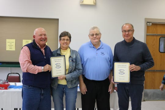 DBM, Incorporated and Grace Fellowship Church were recognized as 10 Year financial donors.  Bill and Marsha Beaven accepted for DBM and Rev. Dwight Jackson accepted for Grace Fellowship. L to R; Bill, Marsha, Jerry Baird, and Dwight.
