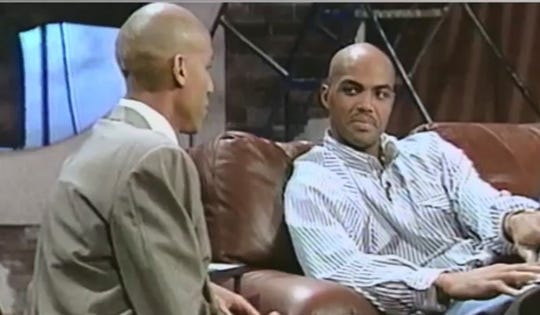 "Reggie Miller teased Charles Barkley about missing games because of a toenail injury on ""The Reggie Miller Show"" in the 1990s."