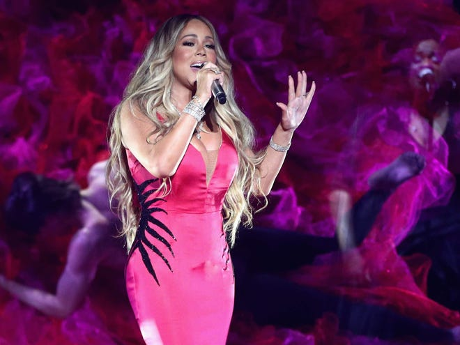 Mariah Carey performs during the 2018 American Music Awards earlier this month in Los Angeles.